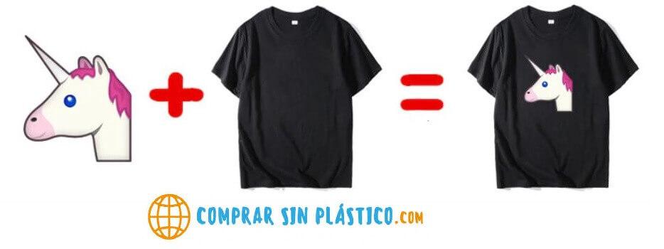 Camiseta ALGODÓN personalizable, material ecológico y sostenible. Tela de Algodón DIY, así de simple, 1 y 1 son 2