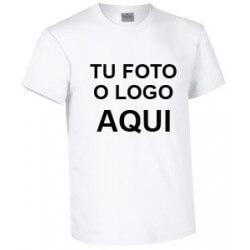 Camiseta ALGODÓN personalizable, material ecológico y sostenible. Tela de Algodón DIY, foto o logo aquí lleva en tu camiseta lo que te de la gana