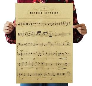 Póster sin plástico de papel ecológico PARTITURA MUSICAL