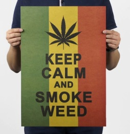 Póster sin plástico ecológico KEEP CALM and SMOKE WEED
