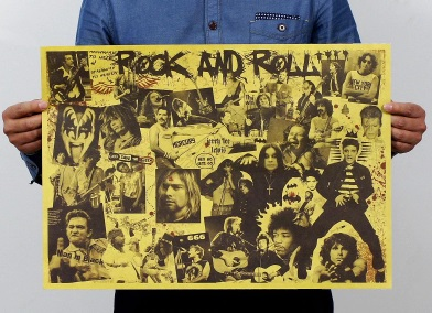 Póster sin plástico ecológico ROCK and ROLL LEGEND