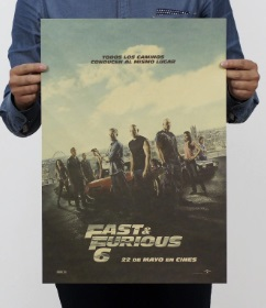 Póster sin plástico ecológico sostenible FAST & FURIOUS 6
