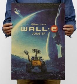Póster sin plástico ecológico sostenible WALL-E Comprar Sin Plástico Pagar con altcoins bitcoin sostenibles
