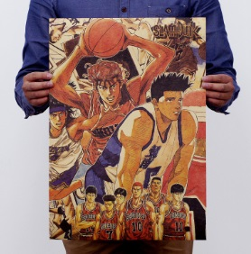 Póster sostenible ANIME SLAM DUNK