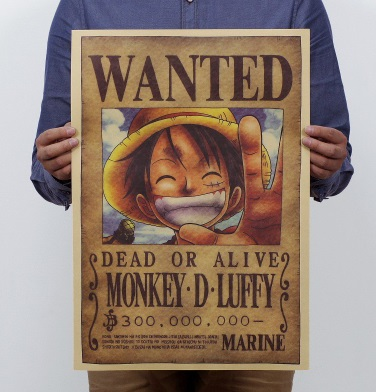 Póster sostenible MONKEY D. LUFFY
