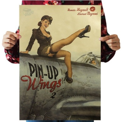 Póster sostenible PIN-UP WINGS