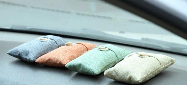 Purificador de Aire Carbón activado de BAMBÚ salpicadero coche ecológico