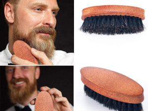 Cepillo JABALÍ para Barba y Bigote, materia prima natural y sostenible biodegradable, hombre a la moda