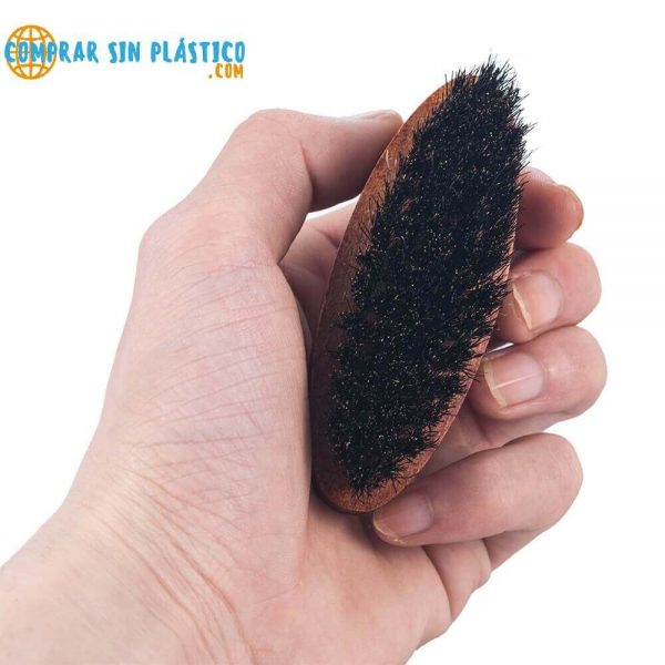 Cepillo JABALÍ para Barba y Bigote, materia prima natural y sostenible biodegradable, cuida tu barba