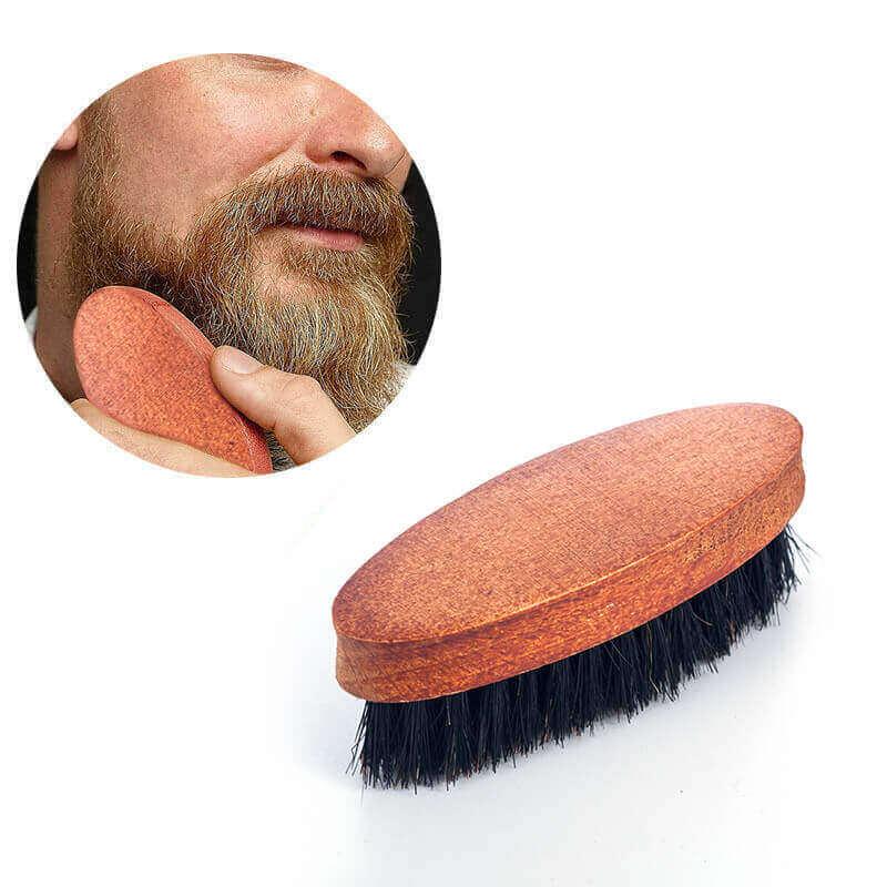 Cepillo JABALÍ para Barba y Bigote, materia prima natural y sostenible biodegradable, barba y bigote suave