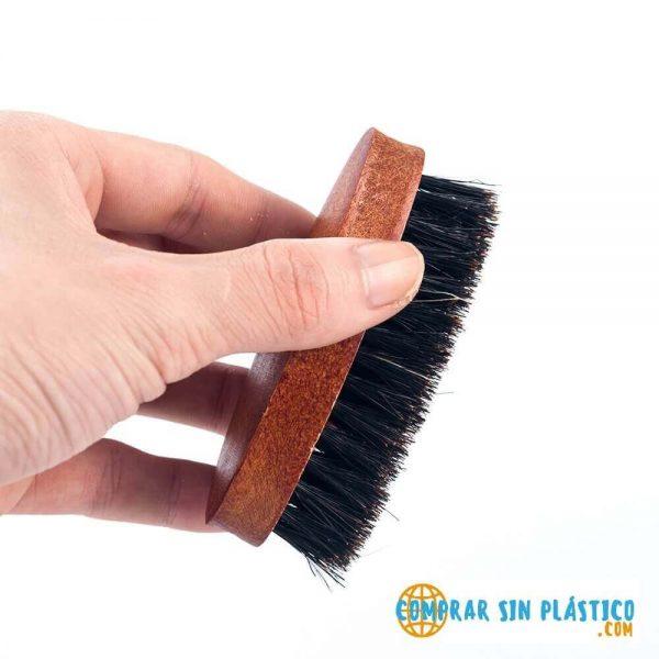 Cepillo JABALÍ para Barba y Bigote, materia prima natural y sostenible biodegradable, barba limpia y peinada