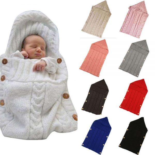 Saco ALGODÓN para bebe de Punto, ecológica, sostenible, a la moda desde pequeños SIN PLÁSTICO, varios modelos y colores
