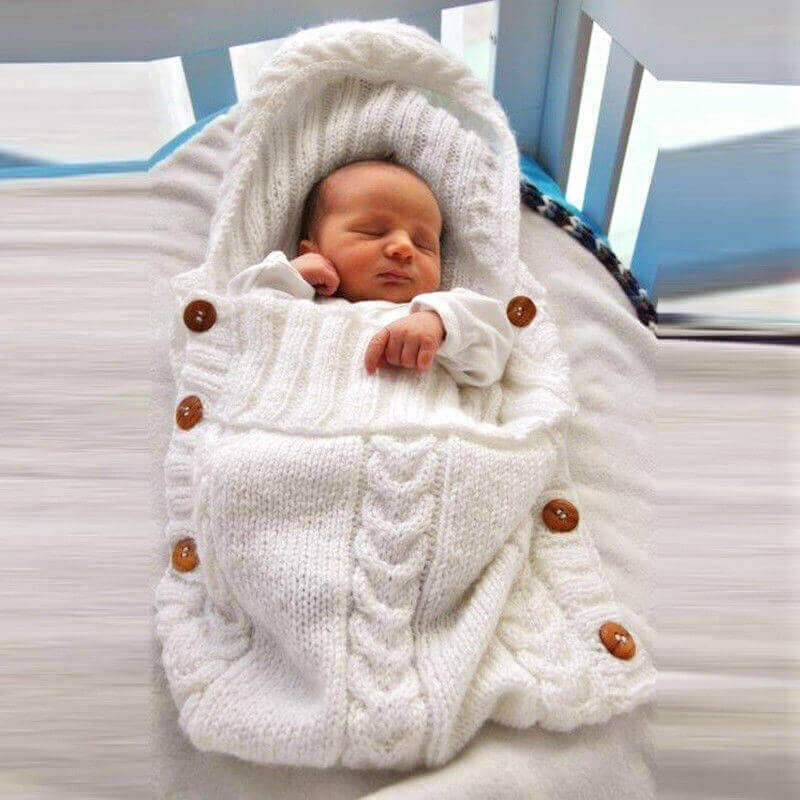Saco ALGODÓN para bebe de Punto, ecológica, sostenible, a la moda desde pequeños SIN PLÁSTICO, muy calentito
