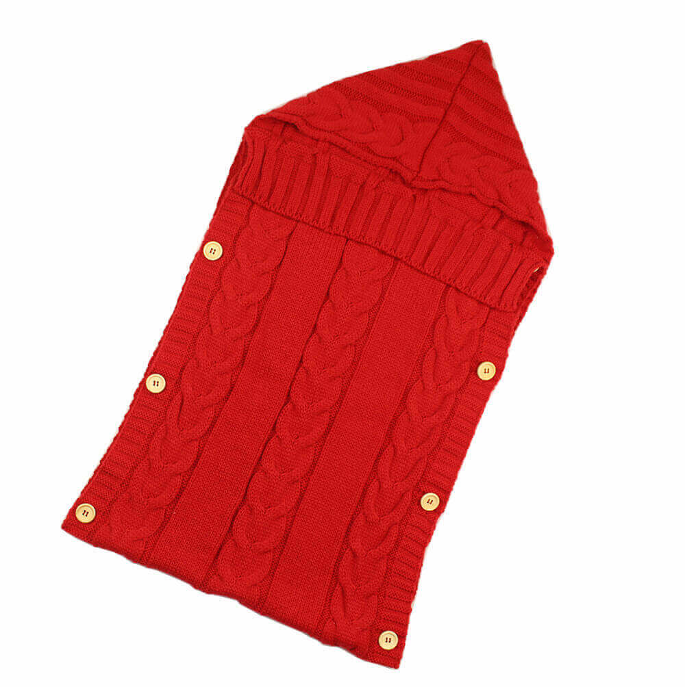Saco ALGODÓN para bebe de Punto, ecológica, sostenible, a la moda desde pequeños SIN PLÁSTICO, rojo