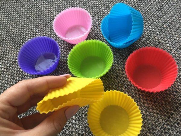10 moldes SILICONA hornear Magdalenas, ecológicas y sostenibles. Muy duraderas. Para la cocina y horno, material flexible