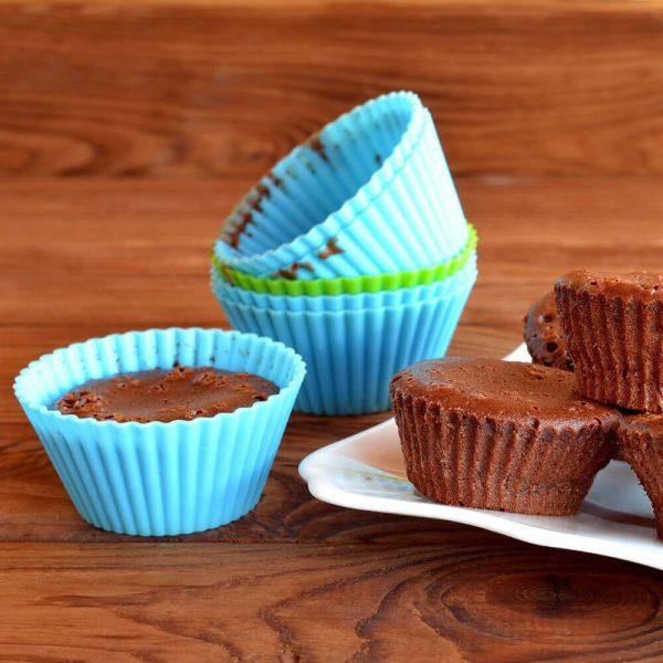 10 moldes SILICONA hornear Magdalenas, ecológicas y sostenibles. Muy duraderas. Para la cocina y horno, chocolate magdalenas