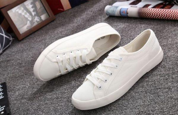 Zapatilla Blanca LONA Mujer Personalizable blancas