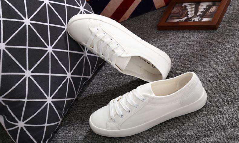 Zapatilla Blanca LONA Mujer Personalizable modelo blanco