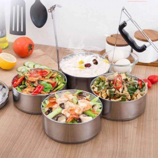 Isotermo METAL Contenedor de Alimentos metálico SIN PLÁSTICO. Comprar Sin Plástico. Producto ecológico, sostenible, ensaladas, pasta, comidas varias