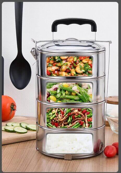 Isotermo METAL Contenedor de Alimentos metálico SIN PLÁSTICO. Comprar Sin Plástico. Producto ecológico, sostenible, interior fiambrera ayudar a nuestro planeta