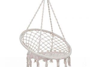 Hamaca Redonda Interior Exterior silla ecológica silla colgante blanca y negra decoracion