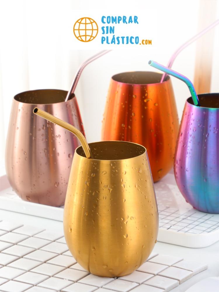 Vaso de colores acero inoxidable