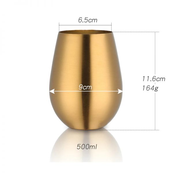 Vaso de colores acero inoxidable ecológica 8