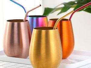 Vaso de colores acero inoxidable ecológica colores divertida 4