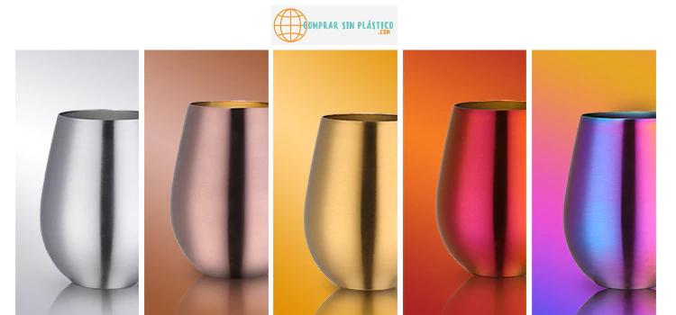 Vaso de colores acero inoxidable 8
