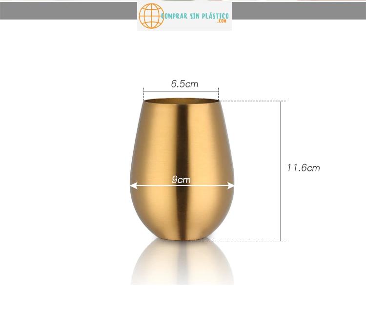 Vaso de colores acero inoxidable 6