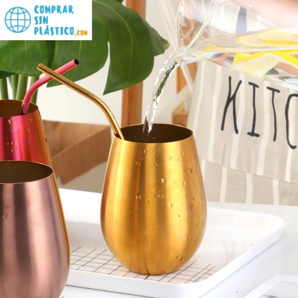 Vaso de colores acero inoxidable ecológica colores 4