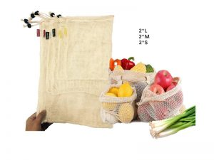 Bolsas de Malla ALGODÓN color beige diferentes tamaños materiales 3