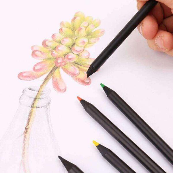 12 lápices de COLORES Alta Calidad para dibujar ecológicos, sostenibles, naturales, materia prima sin plástico. COMPRAR SIN PLÁSTICO