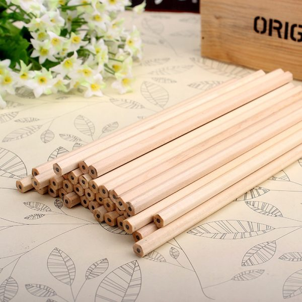 10 lápices hexagonales MADERA