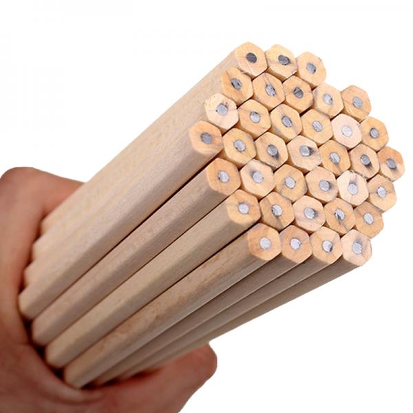 10 lápices hexagonales MADERA ecologica escuela colegio estudiar escribir