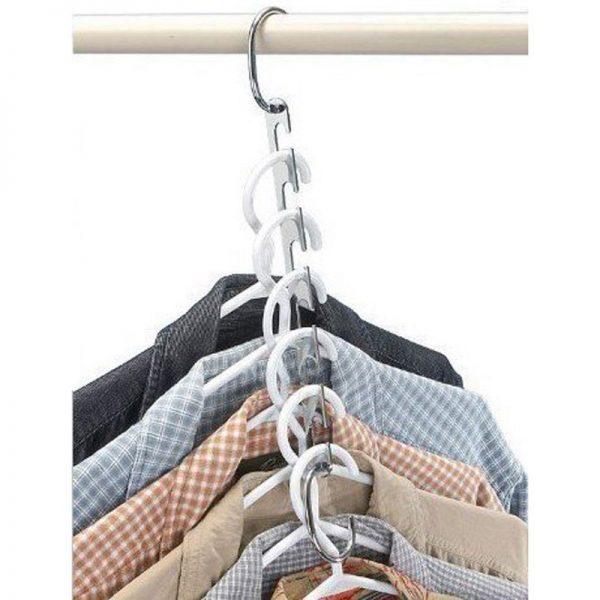 6 organizadores METAL para la ropa Acero inoxidable 4