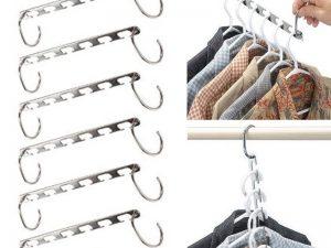 6 organizadores METAL para la ropa Acero inoxidable sostenible ecológico 4