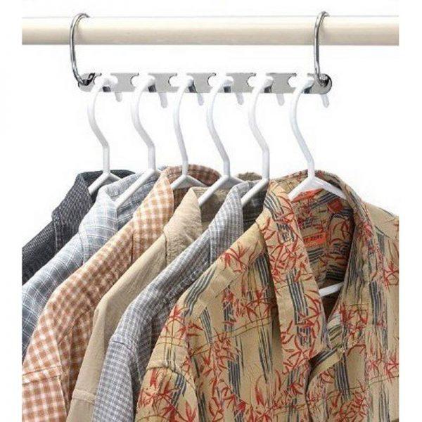 6 organizadores METAL para la ropa Acero inoxidable sostenible ecológico