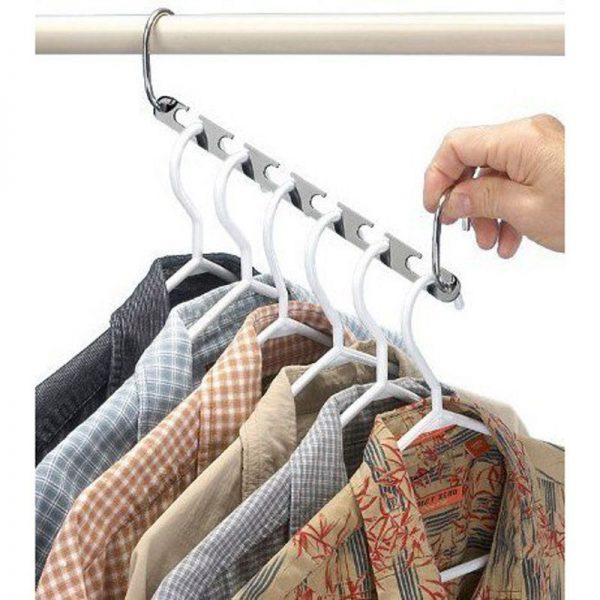 6 organizadores METAL para la ropa Acero inoxidable 8