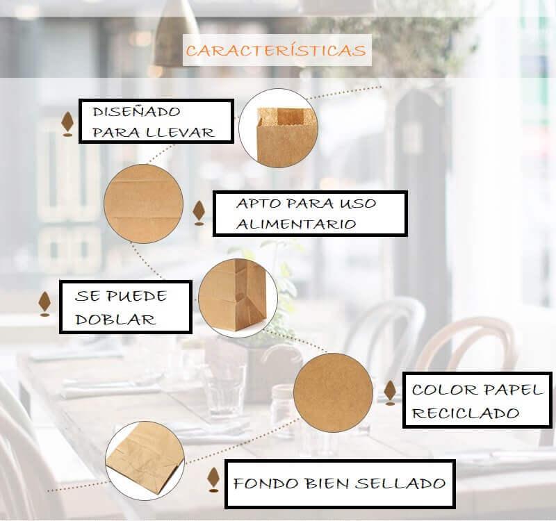 Bolsas PAPEL Kraft 10uds detalles del producto reciclable ecologismo salvaje