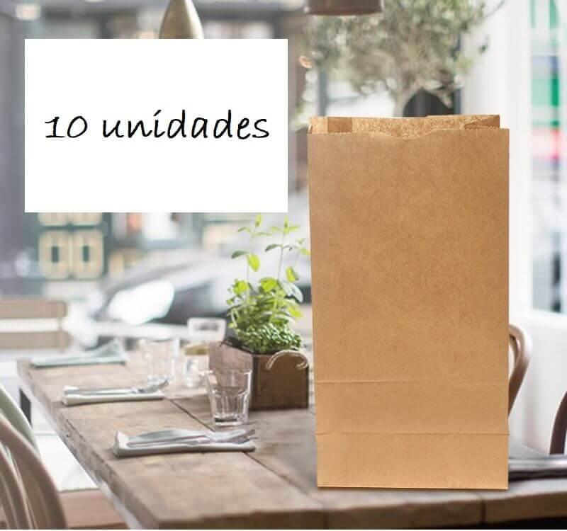 Bolsas PAPEL Kraft 10uds sostenible y elegante de material reciclado