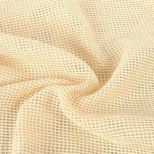 Bolsas de Malla ALGODÓN para la compra ecológica y sostenible, textura