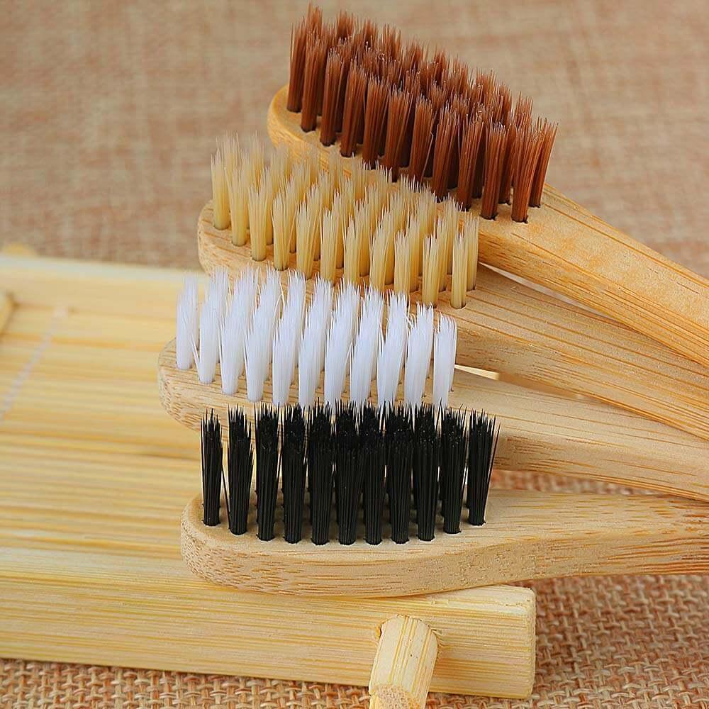 Cepillo Dientes BAMBÚ Ecológico natural sostenible único y suave especial 4 colores