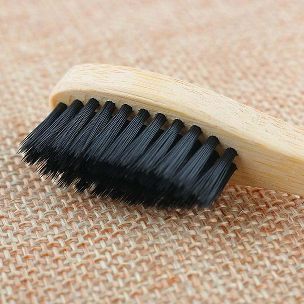 Cepillo Dientes BAMBÚ Ecológico natural sostenible único y suave, color negro