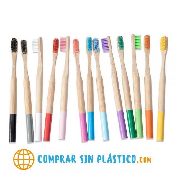 Cepillos De Dientes Redondo BAMBÚ ecológico natural sostenible y reciclable, cepillo bamboo coleccionable