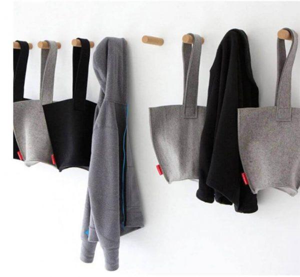 Percha Madera de Diseño ecológico, original, útil, para la ropa en casa, comprar sin plástico, la ropa siempre ordenada