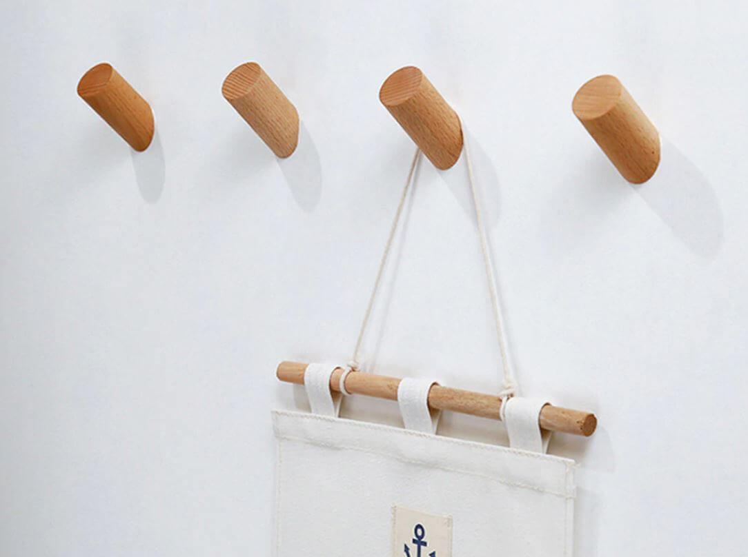 Colgador de Diseño ecológico, original, útil, para la ropa en casa, comprar sin plástico, colgar cosas en una percha