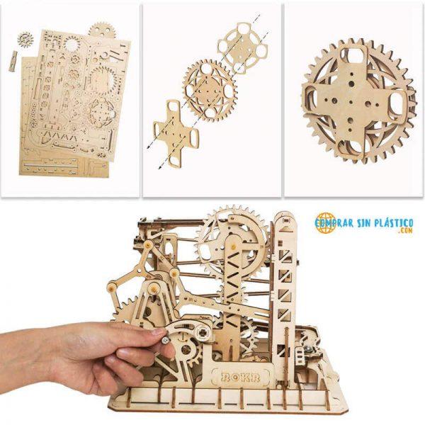 Laberinto MADERA Juego Carreras varios modelos DIY piezas