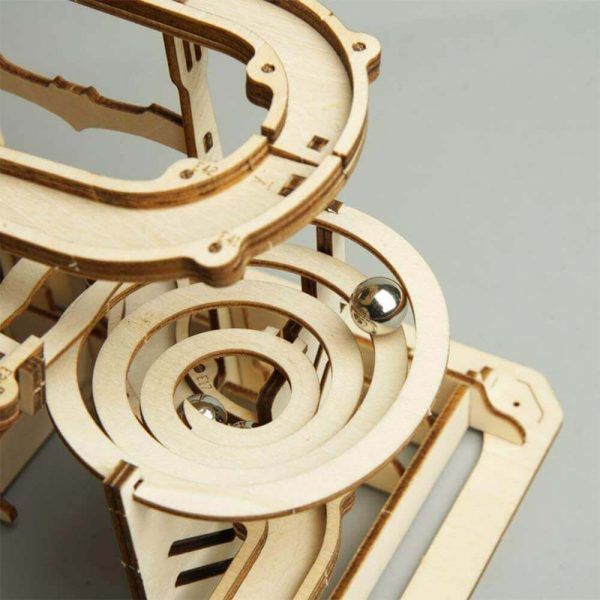 Laberinto MADERA Juego Carreras modelo torre edificio ecológico móvil espiral