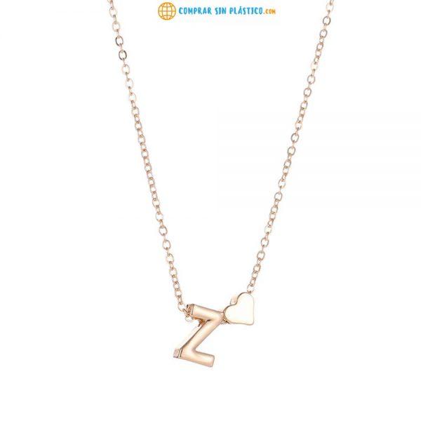 Collar LETRAS METAL Abecedario ecológico y sostenible Collar, colgante, collarín, gargantilla. Medallón, cadena, hilera. Cadenita, rienda. Correa medio ambiente